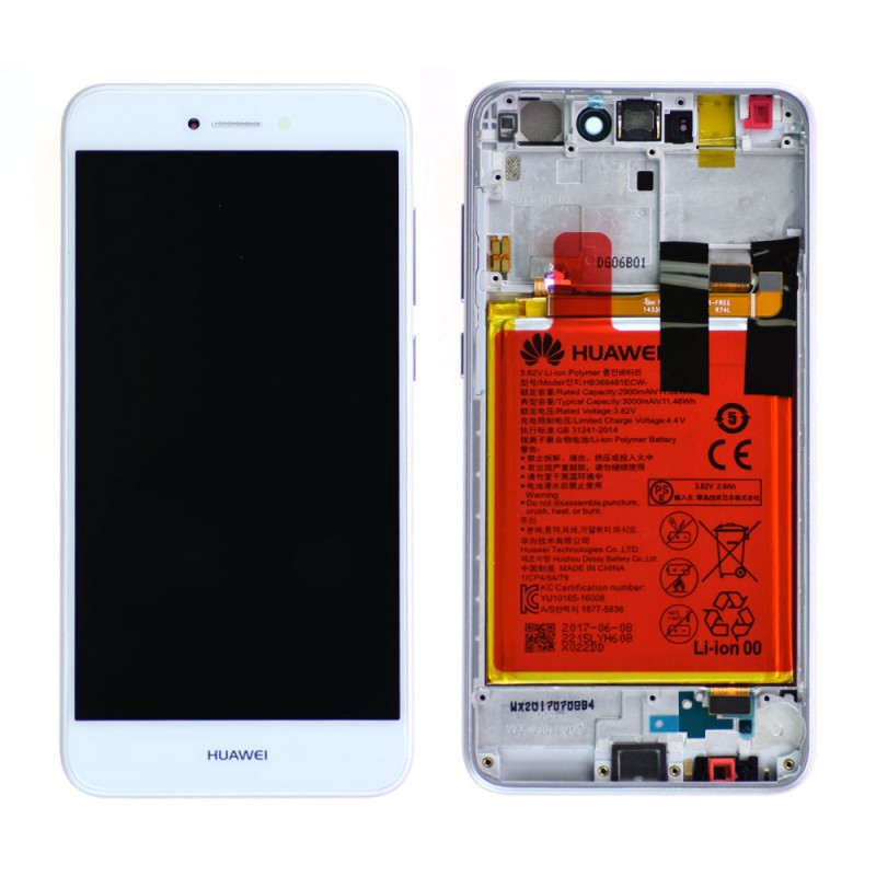 Ecran complet Huawei P8 Lite 2017 Blanc