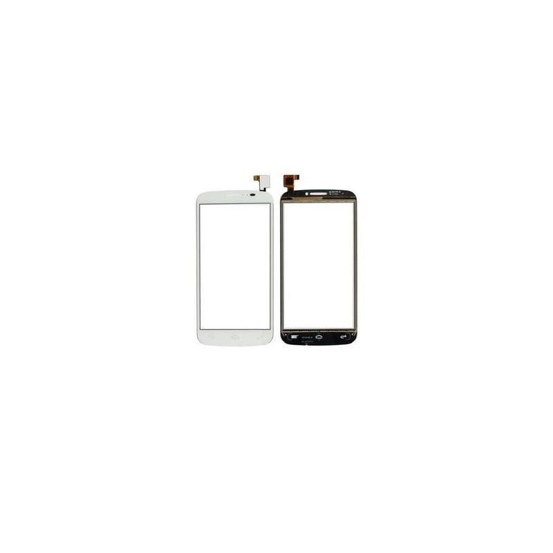 Vitre tactile Alcatel POP C7 Blanc