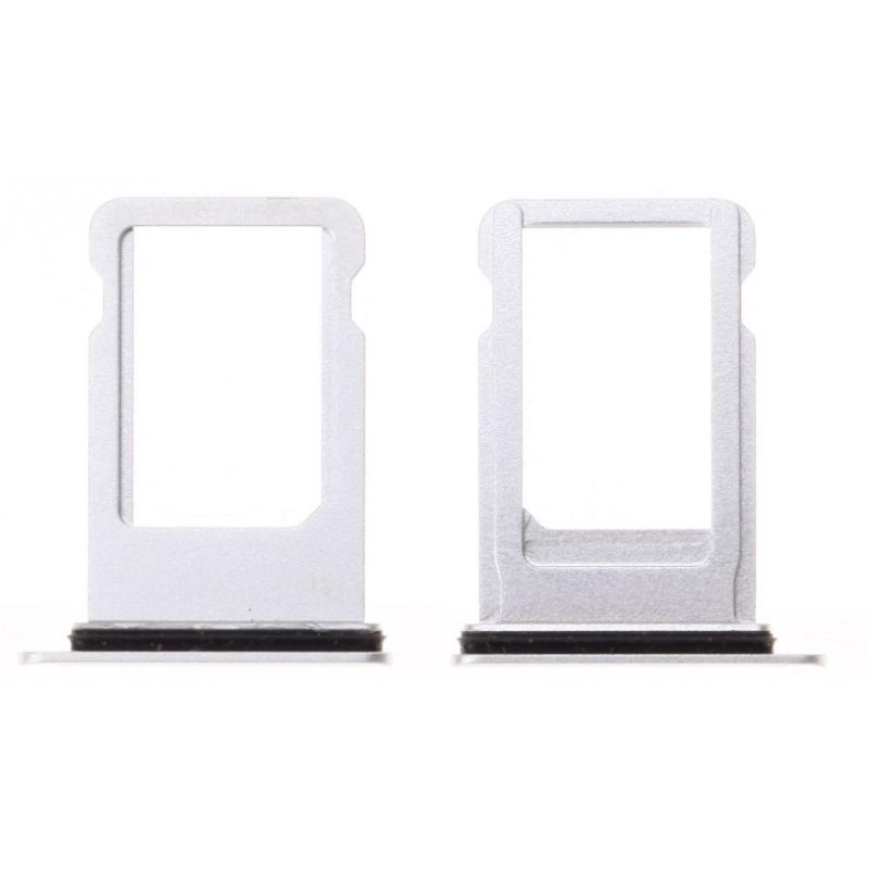 Tiroir SIM iPhone 8/8 Plus Blanc