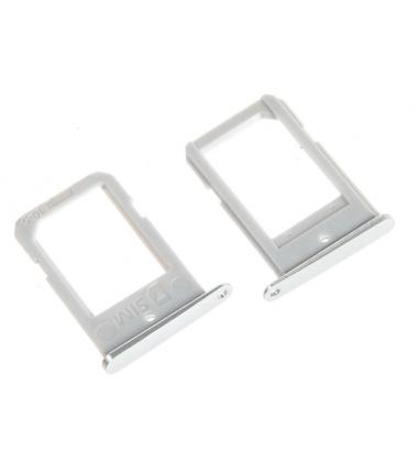Tiroir SIM pour Samsung Galaxy S6 Edge (G925F) Blanc