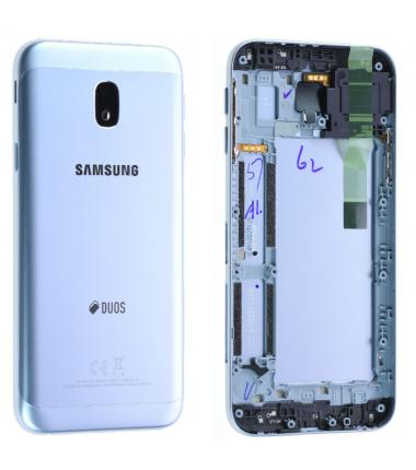 Face arrière Samsung Galaxy J3 2017 (J330F) Bleu/silver