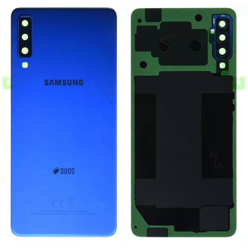 Face arrière Samsung Galaxy A7 2018 (A750F) Bleu (Duos)