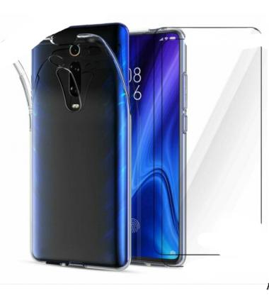 Coque + verre trempé transparent pour Xiaomi Mi 8 Noir