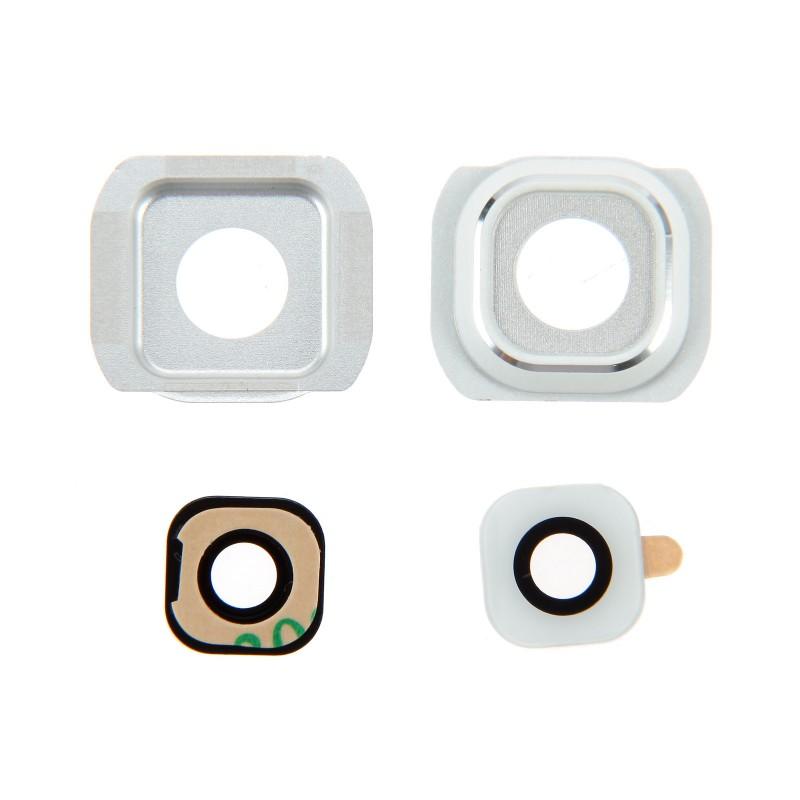 Lentille caméra arrière Galaxy S6 (G920F) Blanc