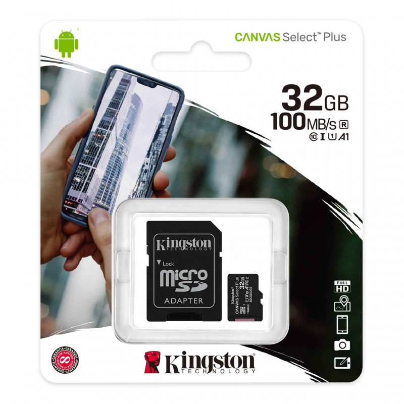 KINGSTON Canvas Select Plus microSD 32GO