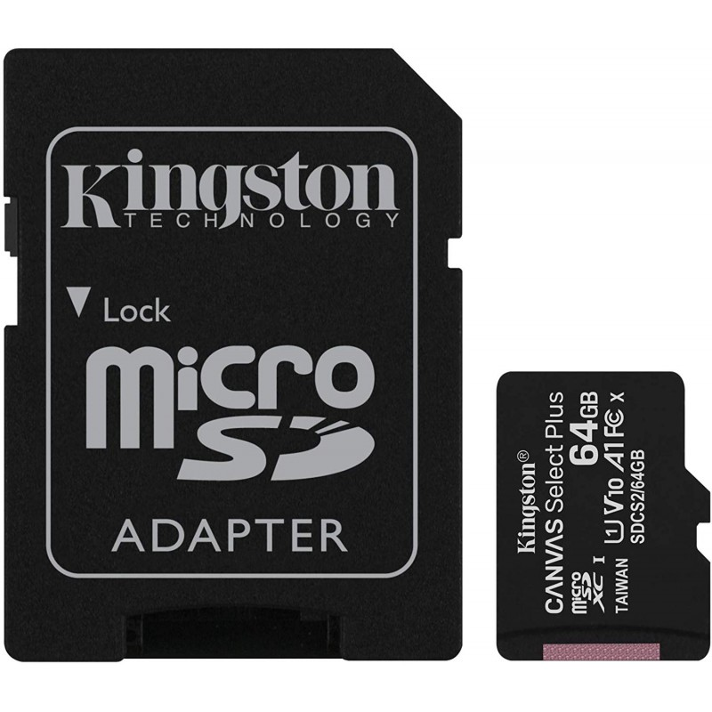 KINGSTON Canvas Select Plus microSD 64GO