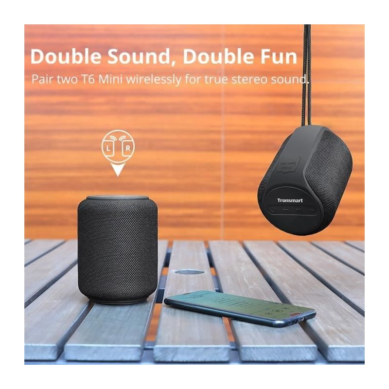TRONSMART Enceinte Bluetooth 15W (T6 Mini) Rouge