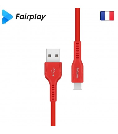 Câble Fairplay LIRIO S2 USB à Type-C 1m Rouge