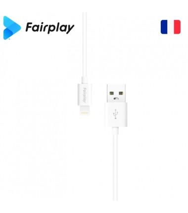 Lot 100x Câble Fairplay SENECIO USB à Lightning 1m (BULK) Blanc