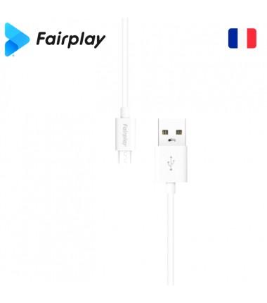 Lot 100x Câble Fairplay SENECIO USB à Micro-USB 1m (BULK) Blanc