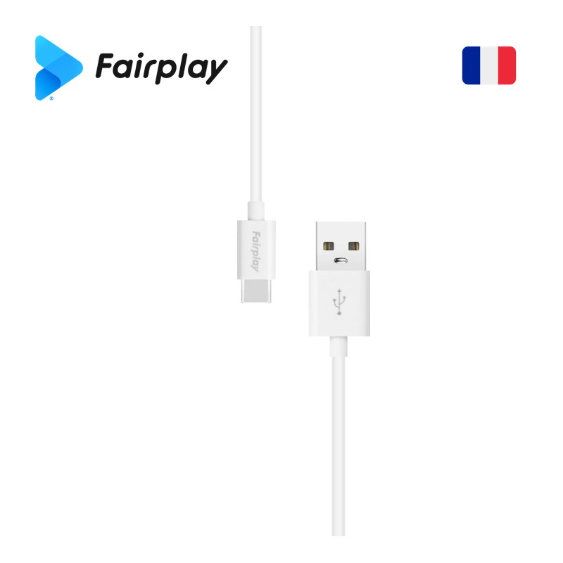 Câble Fairplay SENECIO USB à Type-C 1m Blanc