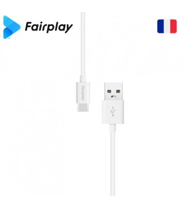 Lot 100x Câble Fairplay SENECIO USB à Type-C 1m (BULK) Blanc