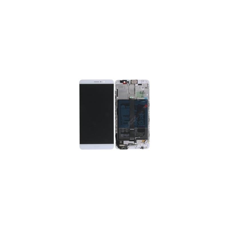 Vitre Tactile pour Huawei Mate 9 MHA-L09 avec Chassis Noir//Blanc Ecran LCD