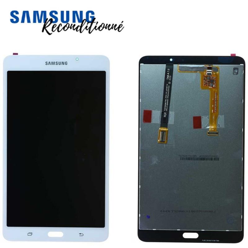 "Ecran reconditionné blanc Samsung Galaxy Tab A 2016 7"" (T280)"