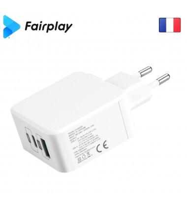Adaptateur chargeur Secteur Fairplay MONZA USB-A-C 30W